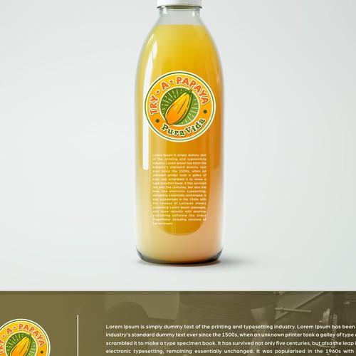 Logo concept for papaya juice