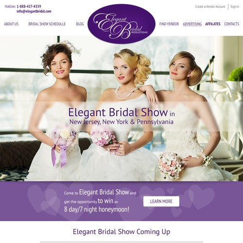 Elegant Bridal Productions is a bridal show company in New Jersey, New York & Pennsylvania.