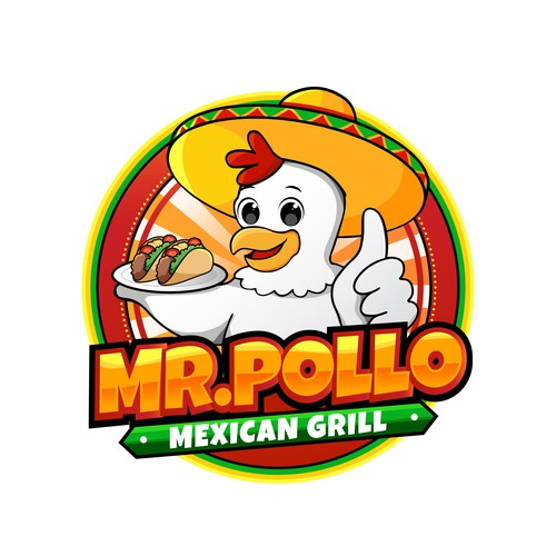 Logo for a Mexican grill restaurant