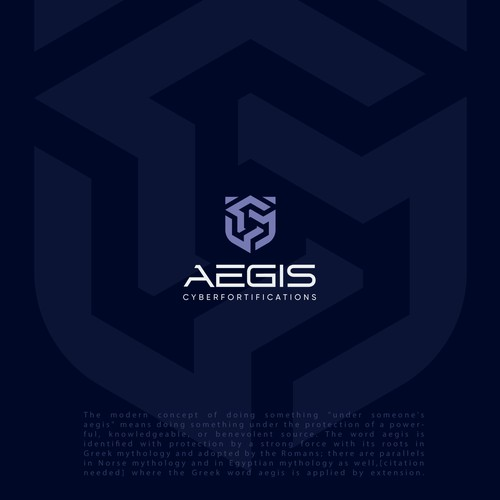 Logo concept for Aegis Cyberfortifications