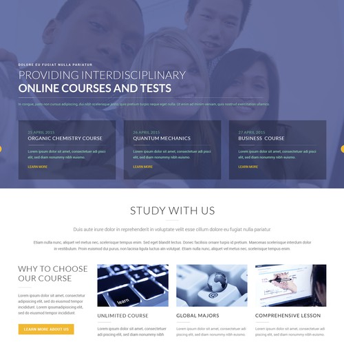 Education Website Homepage Design