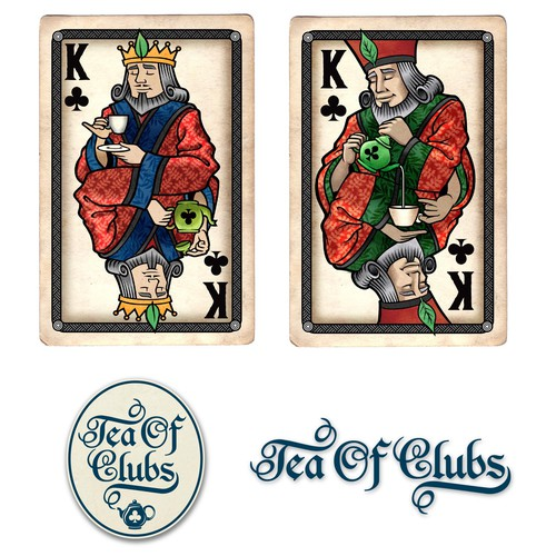 Tea of Clubs - Playing Card/Face Card... HUGE EXPOSURE!