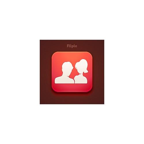 Icon design for iOS application (Fliple)