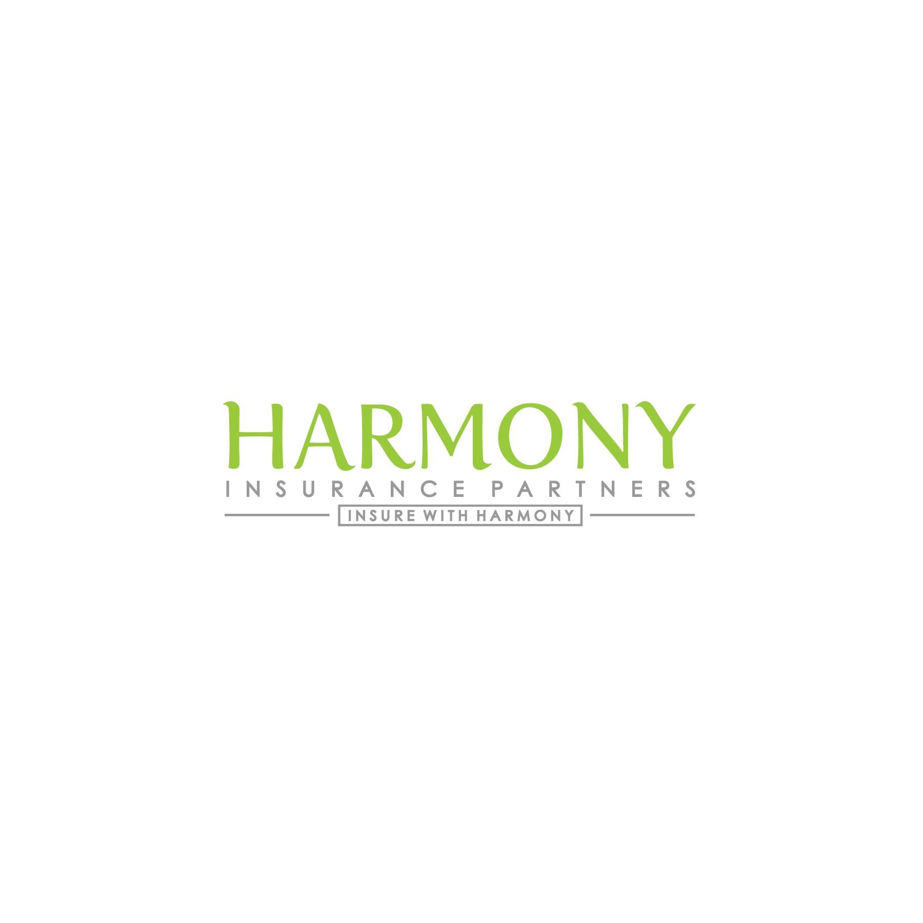Create a logo for a new insurance agency, Harmony Insurance Partners