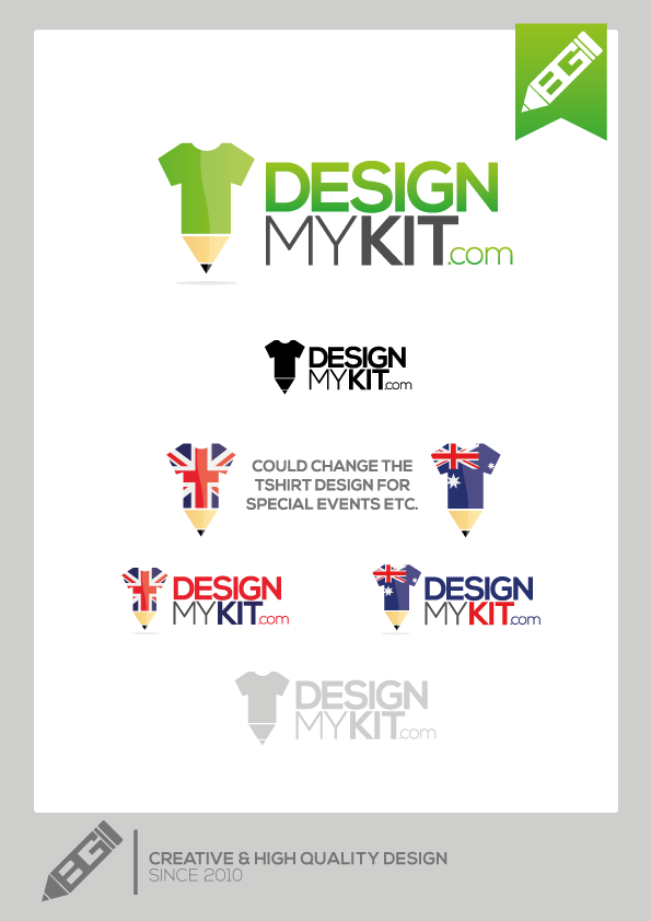 New, bright, bold and fresh LOGO for designmykit.com