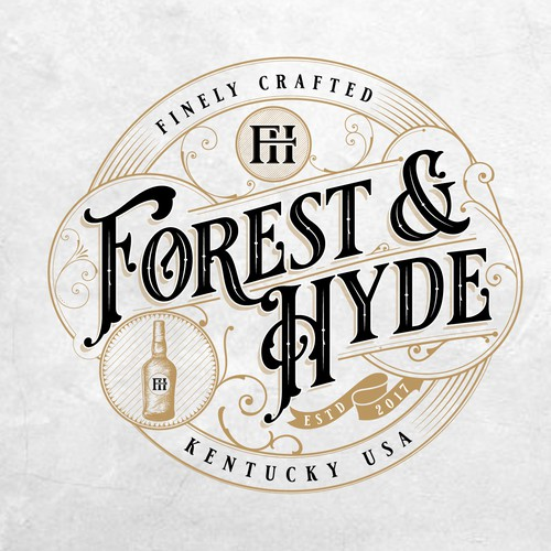 Vintage logo for Leather Goods Company