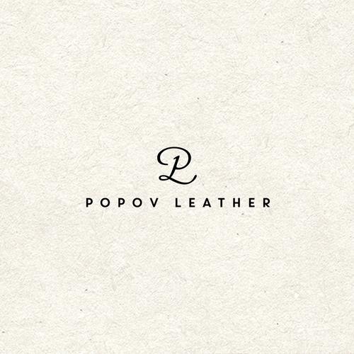 A unique logo for Popov Leather