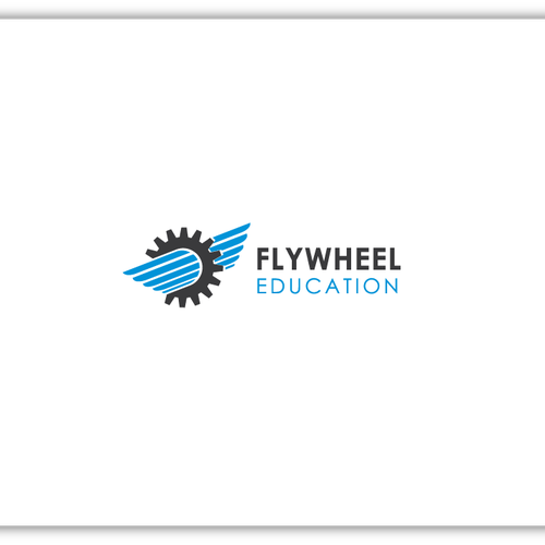Create a clean logo for Flywheel Education