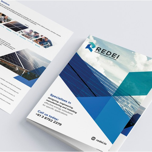 Brochure for solar energy company