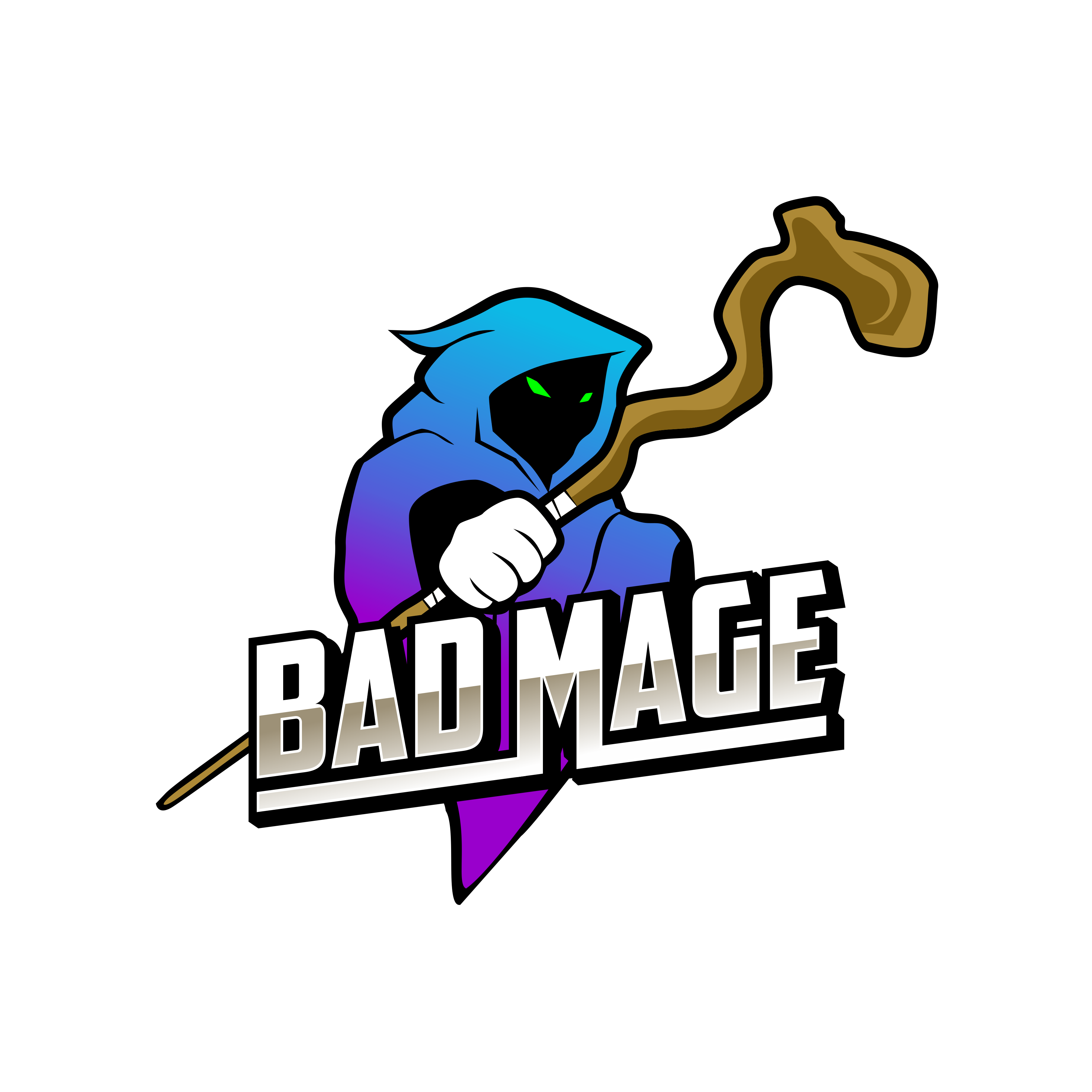 Create a simple / cute Mage centric logo for Bad Mage