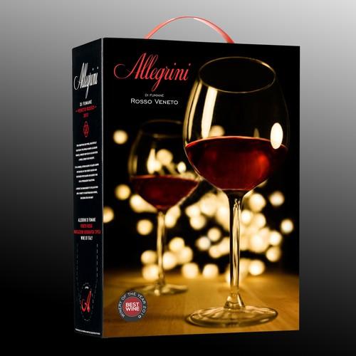 Allegrini Rosso Veneto. Create a new design for an Italian wine box
