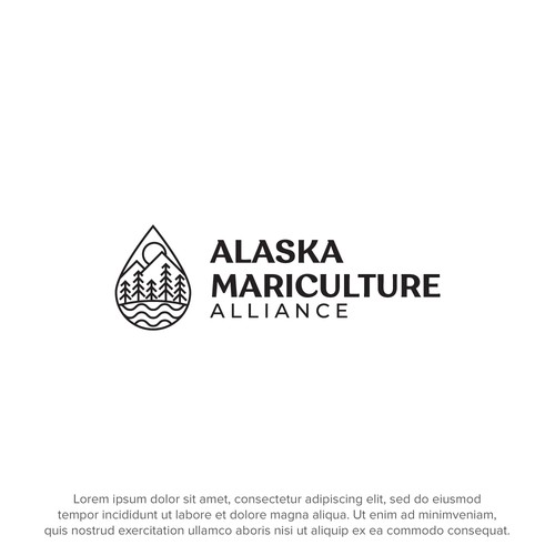 Logo for a mariculture