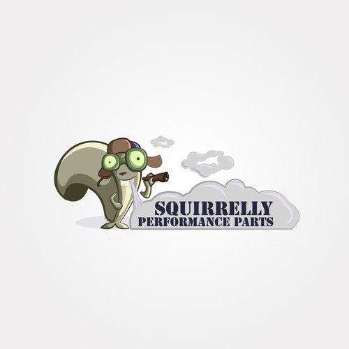 Create the next logo for Squirrelly Performance Parts