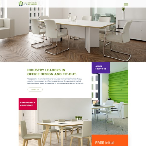 Website for office fit out firm
