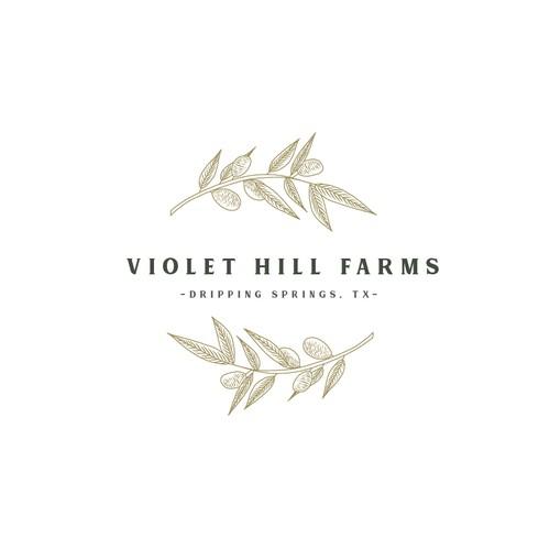Logo Design Concept for Violet Hill Farms