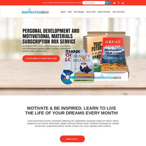 Website design for Inspiraion box