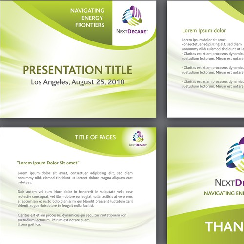 Professional Powerpoint Template Design