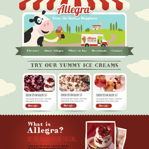 Help Allegra with a new website design