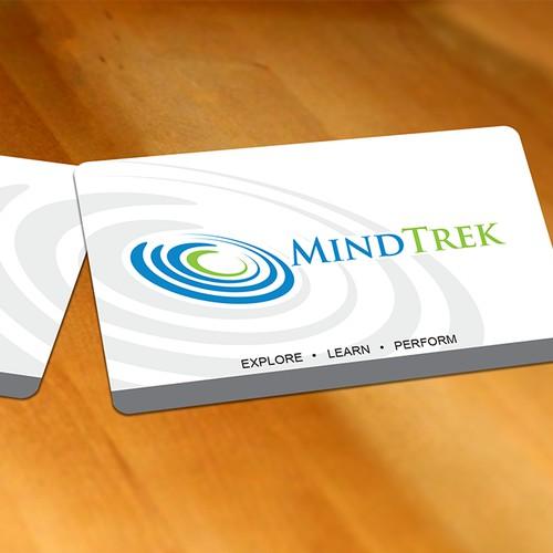Business card design for MindTrek using existing logo & colours