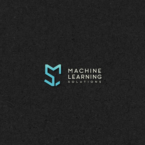 Simple and clean logo for AI company