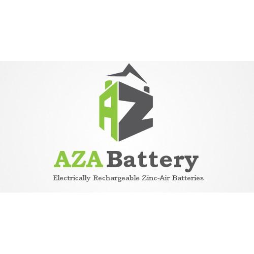 Create the next logo for AZA Battery--advanced zinc air batteries