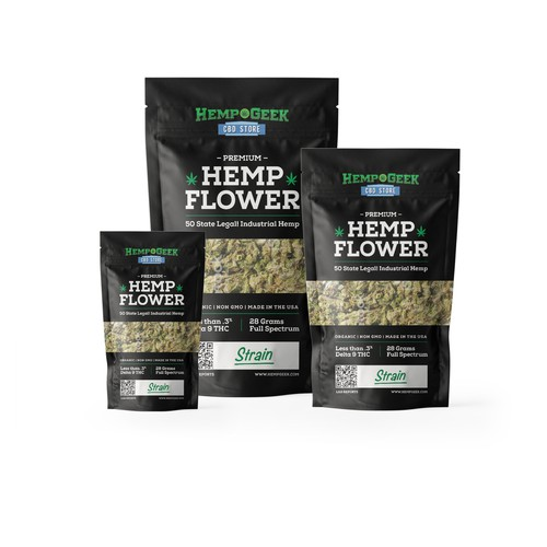 Hemp Geek - package design