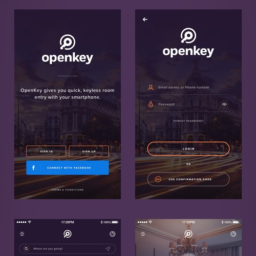 Award Winning Designs for OpenKey - The Universal Hotel Mobile Key!