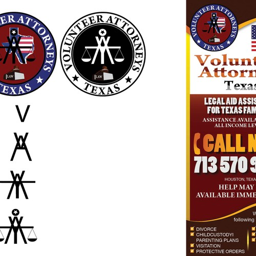 Create a flyer for Texas Volunteer Attorneys