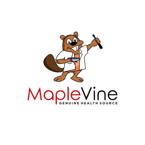 bold logo for maple vine