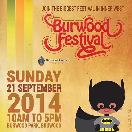 Burwood Festival SuperHero Promo Poster
