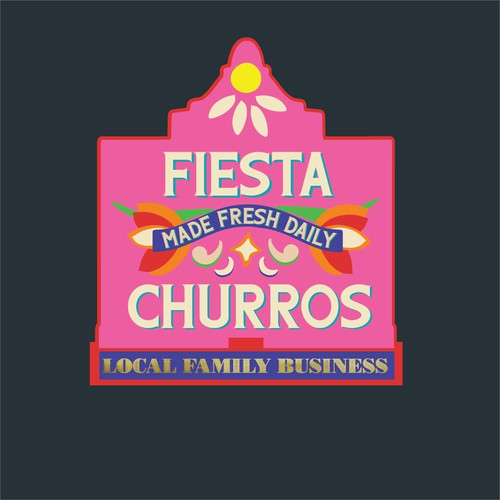 Fiesta Churros Pink and Red