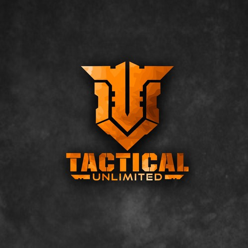 Super Strong and Bold logo concept for Tactical Unlimited Gear