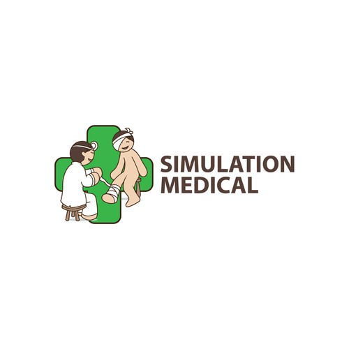 Logo for a Medical Simulation Retailer