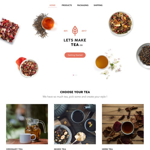Lets Make Tea Website Concept