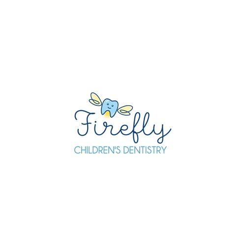 Cute logo concept for children's dentistry