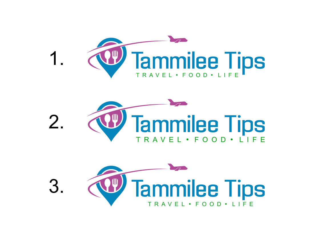 Create an eye-catching logo for a travel,food and life website.