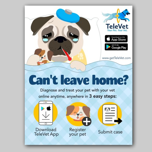 Signage concept for a vet mobile app