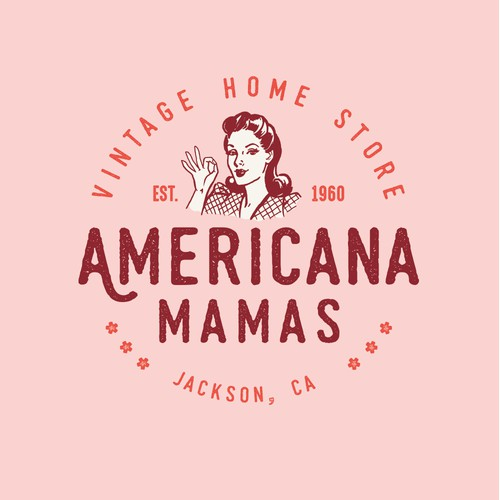 Vintage and feminine logo