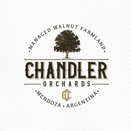 Logo design for Chandler Orchards.
