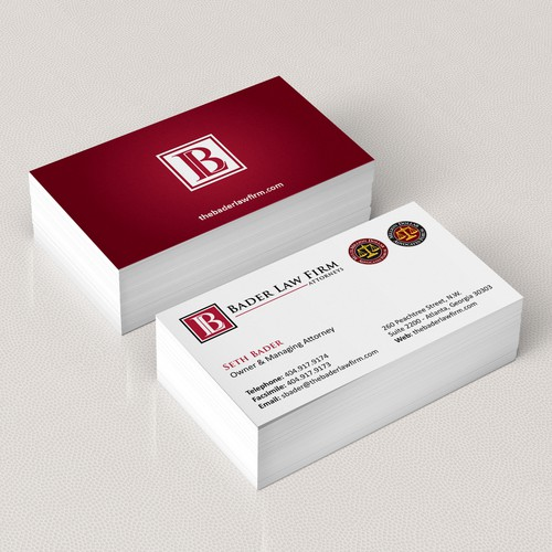 Create business card for law firm!
