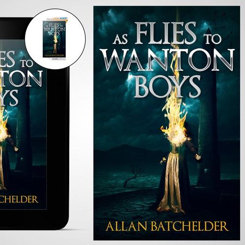 Book cover design for a fantasy book