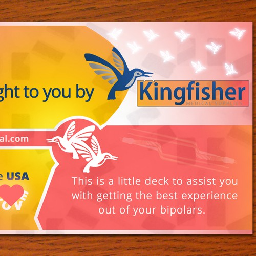 Kingfisher Instructions Card
