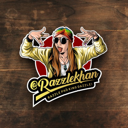 razzlekhan illustration logo