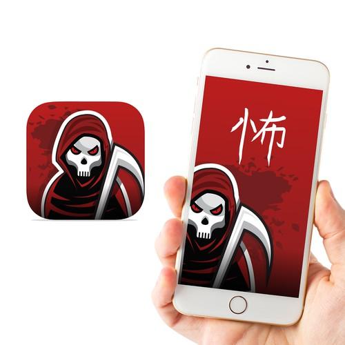 Scary app icon design