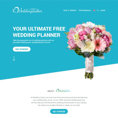 Wedding Tasker landing page