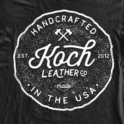 Handcrafted and Hard-Wearing t-shirt design for Koch Leather Co.