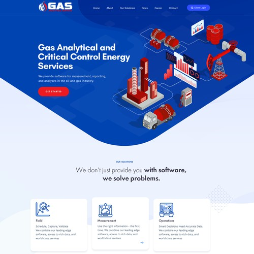 Gas Analytical  Web Design