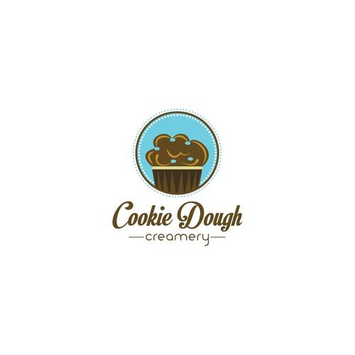 Create a logo for an ice cream business - Cookie Dough Creamery