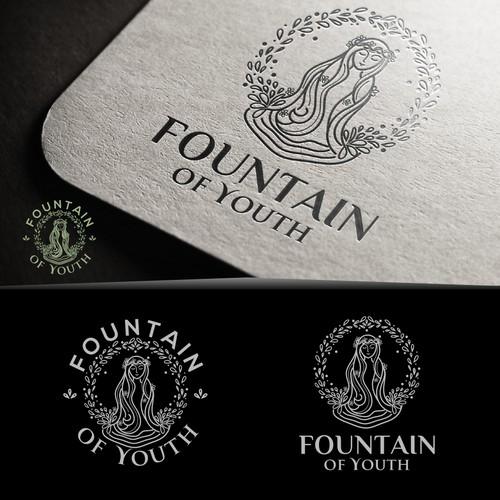 Logo for natural drink extending women's beauty