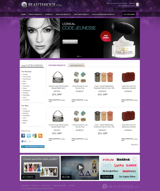 Create the next website design for BEAUTHIQUE.COM